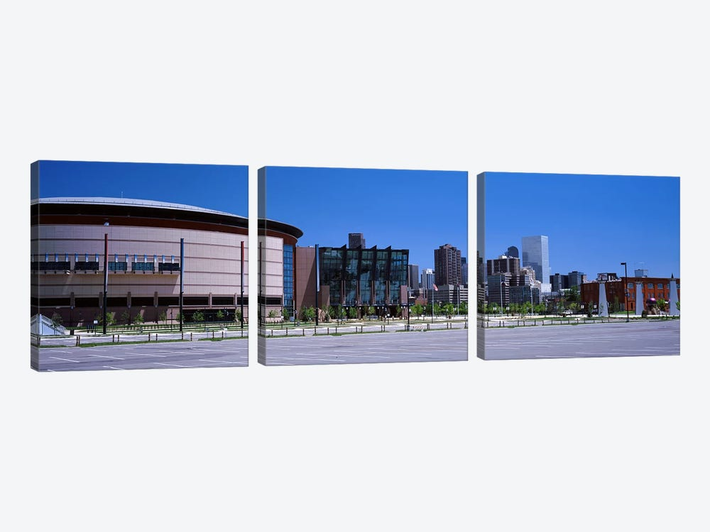 USA, Colorado, Denver, skyline by Panoramic Images 3-piece Canvas Wall Art