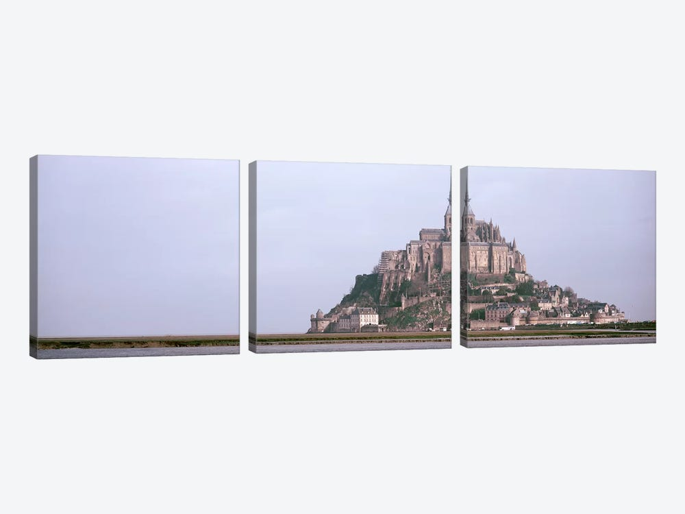 Mont St Michel Normandy France by Panoramic Images 3-piece Canvas Art