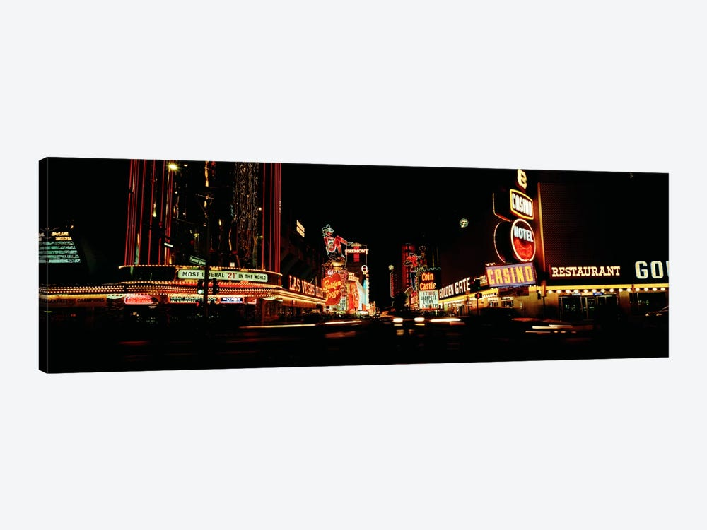 Las Vegas NV Downtown Neon, Fremont St by Panoramic Images 1-piece Canvas Artwork