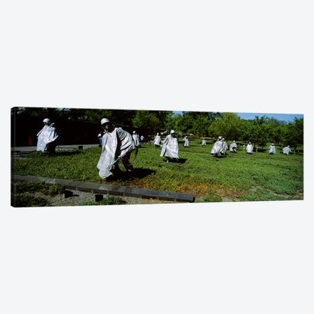 USA, Washington DC, Korean War Memorial, Statues in the field Canvas Print #PIM3011} by Panoramic Images Art Print