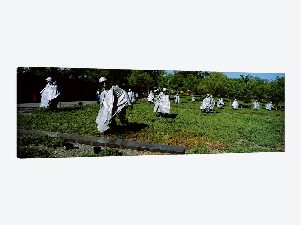 USA, Washington DC, Korean War Memorial, Statues in the field by Panoramic Images 1-piece Canvas Art