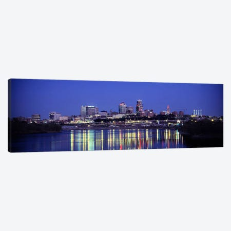 Evening Kansas City MO Canvas Print #PIM3019} by Panoramic Images Canvas Art Print