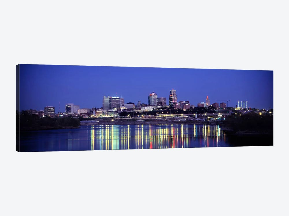 Evening Kansas City MO by Panoramic Images 1-piece Canvas Wall Art