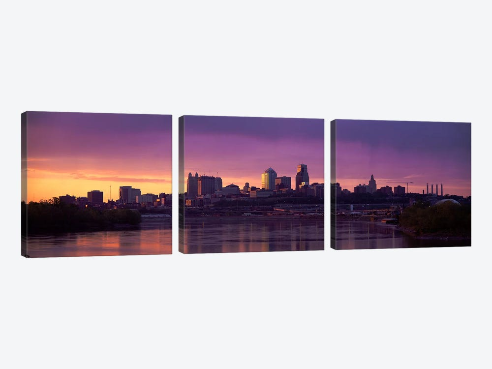Dawn Kansas City MO by Panoramic Images 3-piece Canvas Artwork