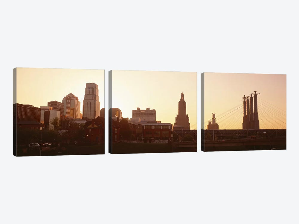 Kansas CityMissouri, USA by Panoramic Images 3-piece Canvas Print