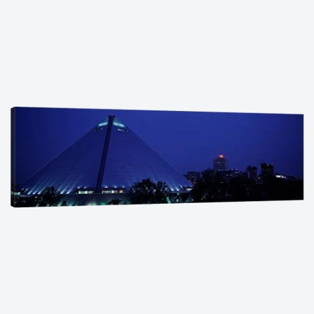 Night The Pyramid & Skyline Memphis TN USA Canvas Print #PIM3027} by Panoramic Images Canvas Print