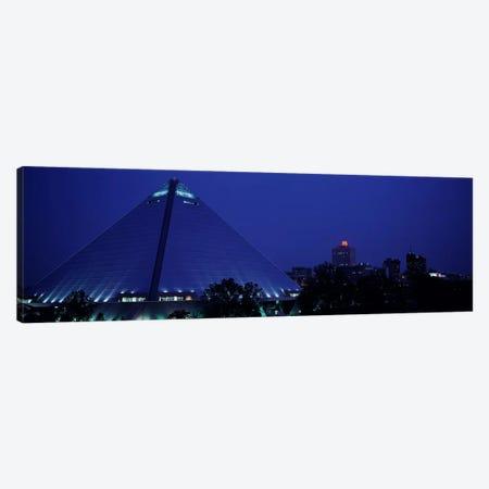 Night The Pyramid & Skyline Memphis TN USA Canvas Print #PIM3027} by Panoramic Images Canvas Print