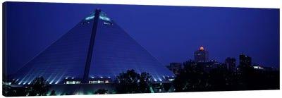 Night The Pyramid & Skyline Memphis TN USA Canvas Art Print