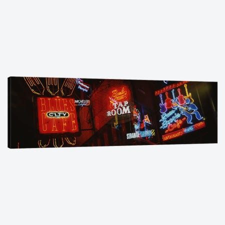Neon SignsBeale Street, Memphis, Tennessee, USA Canvas Print #PIM3028} by Panoramic Images Canvas Artwork