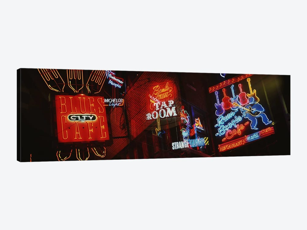 Neon SignsBeale Street, Memphis, Tennessee, USA by Panoramic Images 1-piece Canvas Artwork
