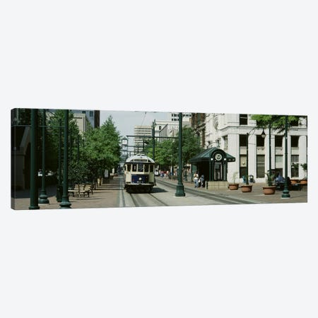 Main Street Trolley Court Square Memphis TN Canvas Print #PIM3029} by Panoramic Images Canvas Artwork