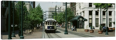 Main Street Trolley Court Square Memphis TN Canvas Art Print