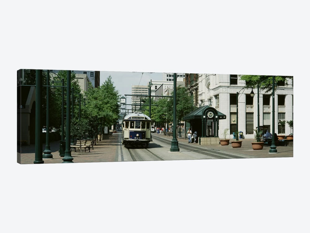 Main Street Trolley Court Square Memphis TN by Panoramic Images 1-piece Art Print