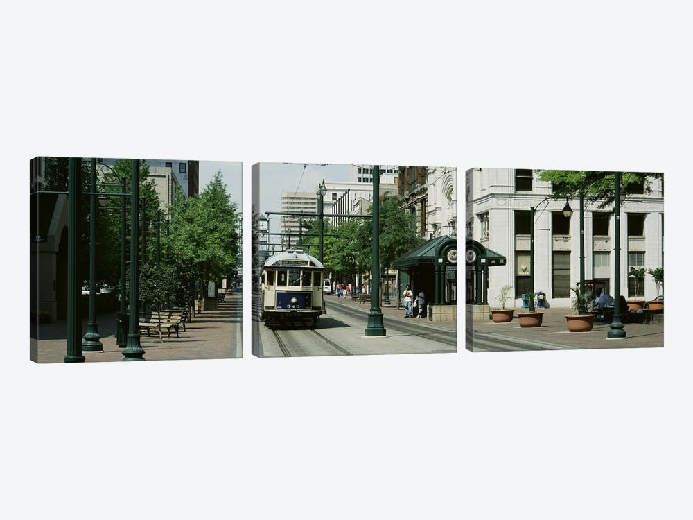 Main Street Trolley Court Square Memphis TN by Panoramic Images 3-piece Canvas Art Print