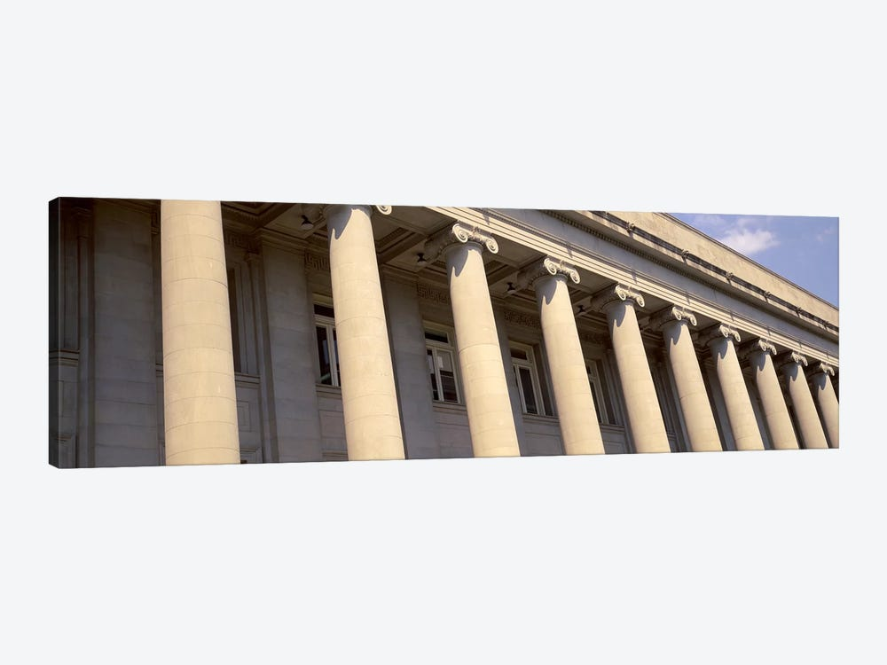Shelby County Courthouse columns Memphis TN USA by Panoramic Images 1-piece Canvas Art Print
