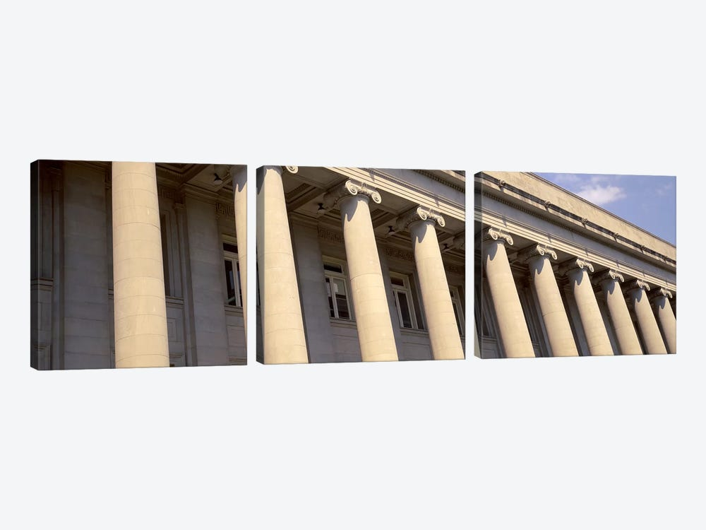 Shelby County Courthouse columns Memphis TN USA by Panoramic Images 3-piece Canvas Art Print