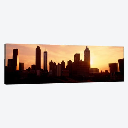 Sunset SkylineAtlanta, Georgia, USA Canvas Print #PIM3033} by Panoramic Images Canvas Print