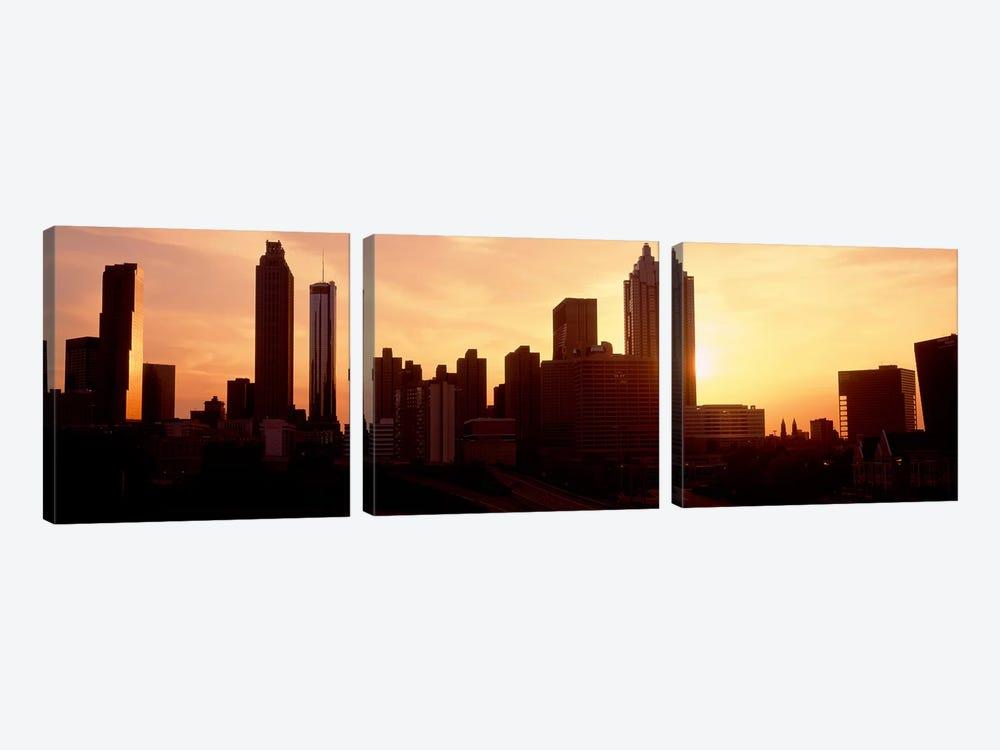 Sunset SkylineAtlanta, Georgia, USA by Panoramic Images 3-piece Canvas Artwork