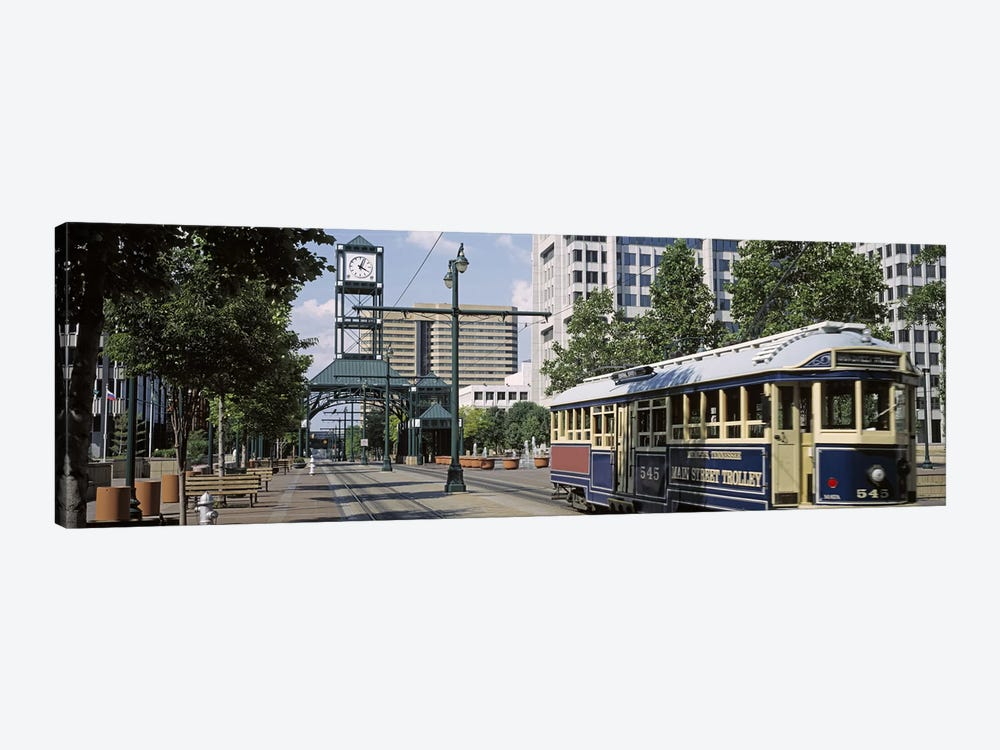 View of A Tram Trolley on A City StreetCourt Square, Memphis, Tennessee, USA by Panoramic Images 1-piece Canvas Art Print