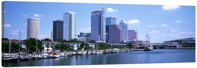 Skyline & Garrison Channel Marina Tampa FL USA Canvas Art Print