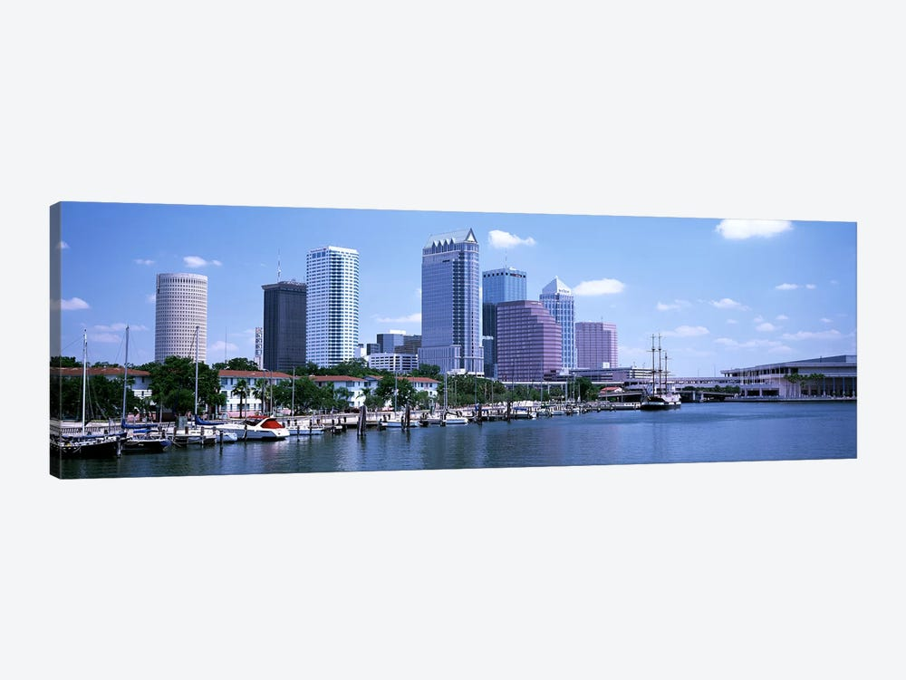 Skyline & Garrison Channel Marina Tampa FL USA by Panoramic Images 1-piece Canvas Artwork