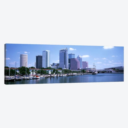 Skyline & Garrison Channel Marina Tampa FL USA Canvas Print #PIM3035} by Panoramic Images Canvas Art