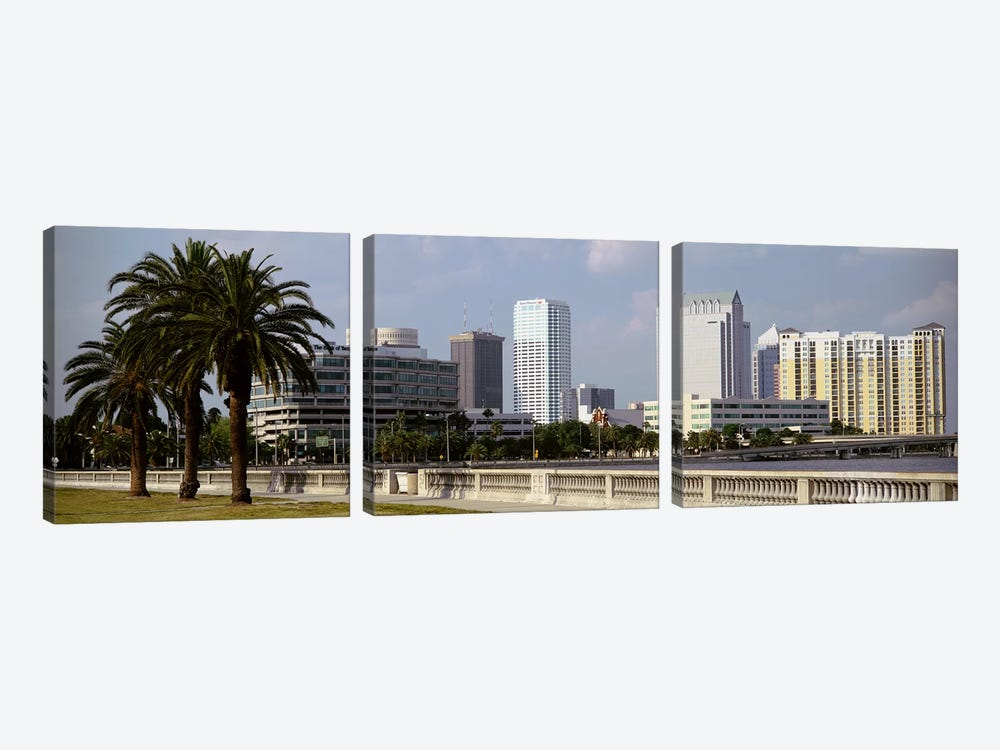 Skyline Tampa FL USA by Panoramic Images 3-piece Canvas Print