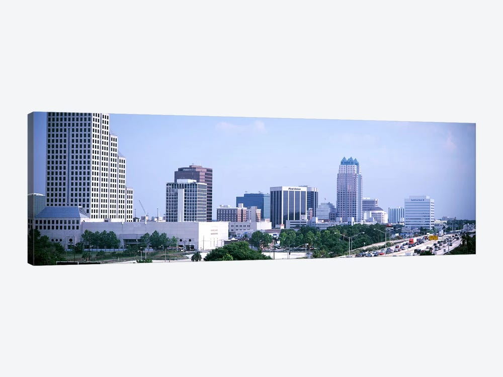 Skyline & Interstate 4 Orlando FL USA by Panoramic Images 1-piece Art Print