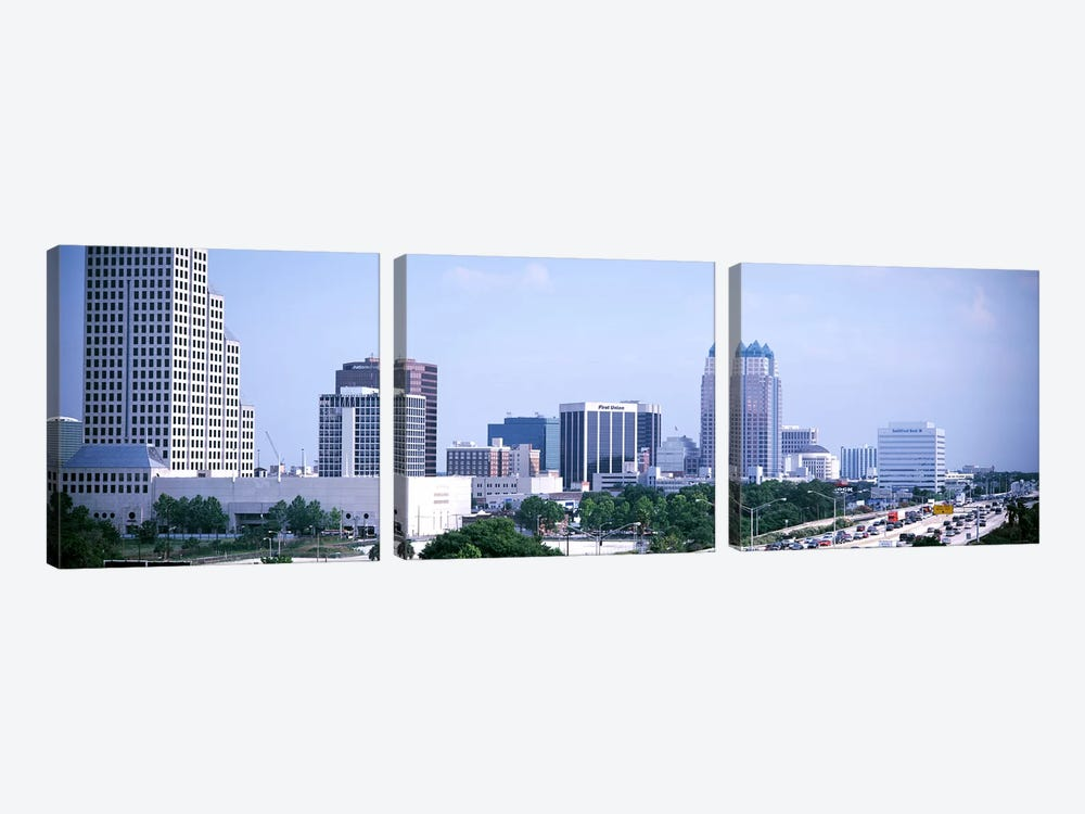 Skyline & Interstate 4 Orlando FL USA 3-piece Art Print