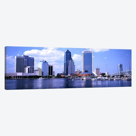 Skyscrapers at the waterfront, Main Street Bridge, St. John's River, Jacksonville, Florida, USA Canvas Print #PIM3039} by Panoramic Images Canvas Art Print