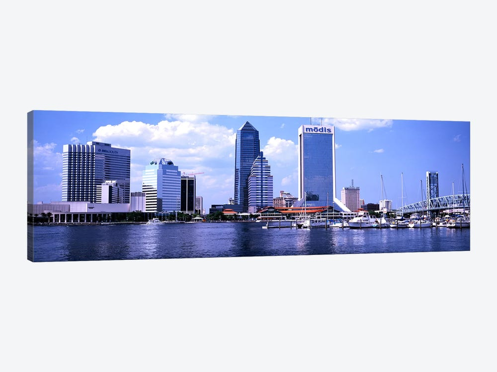 Skyscrapers at the waterfront, Main Street Bridge, St. John's River, Jacksonville, Florida, USA by Panoramic Images 1-piece Canvas Art
