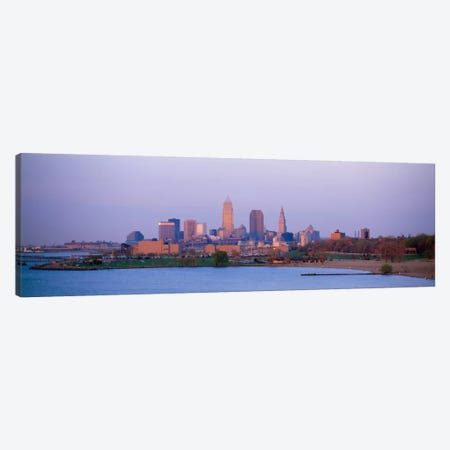 Buildings at the waterfront, Cleveland, Ohio, USA #2 Canvas Print #PIM303} by Panoramic Images Art Print