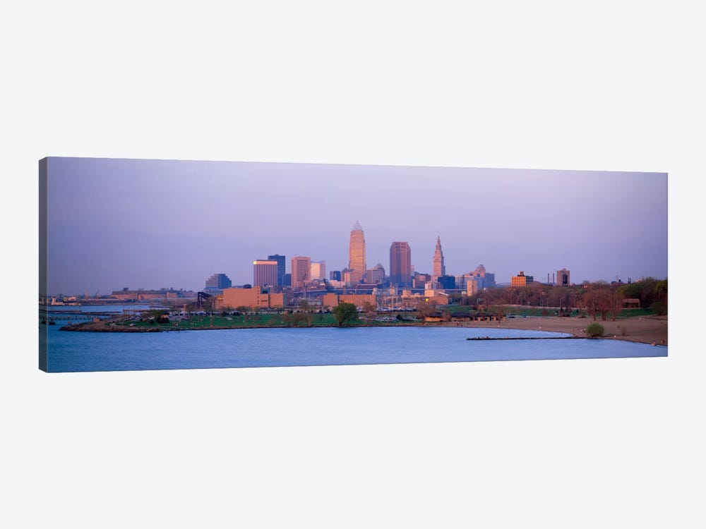 Buildings at the waterfront, Cleveland, Ohio, USA #2 1-piece Canvas Art Print