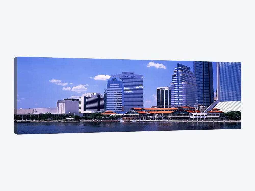 Skyline Jacksonville FL USA by Panoramic Images 1-piece Canvas Artwork