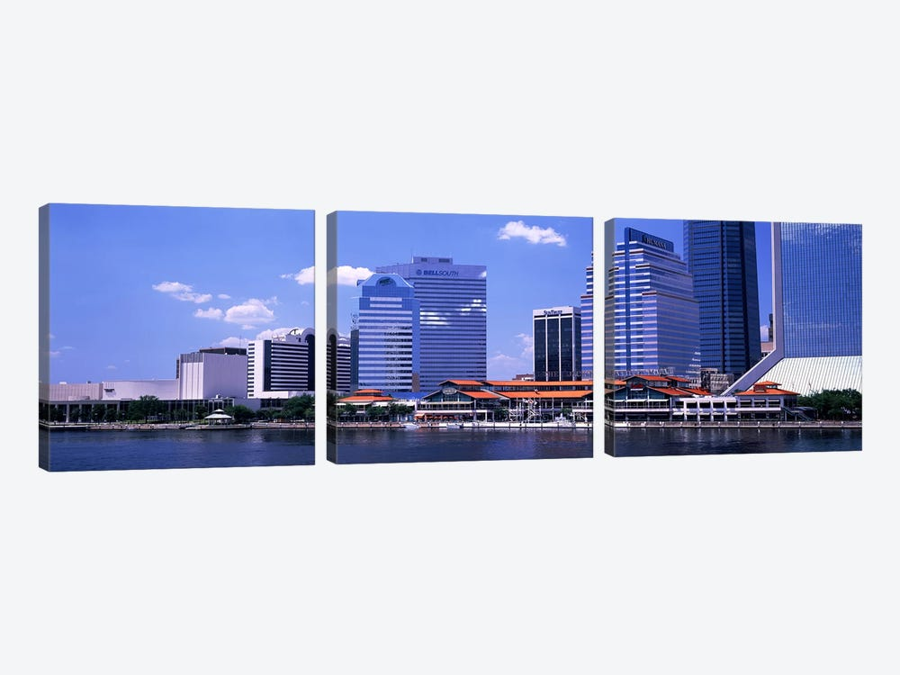 Skyline Jacksonville FL USA by Panoramic Images 3-piece Canvas Artwork