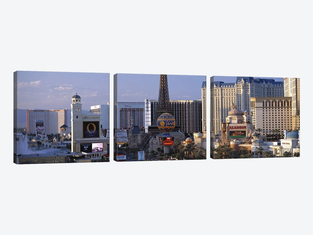 The Strip Las Vegas NV #2 by Panoramic Images 3-piece Canvas Art Print