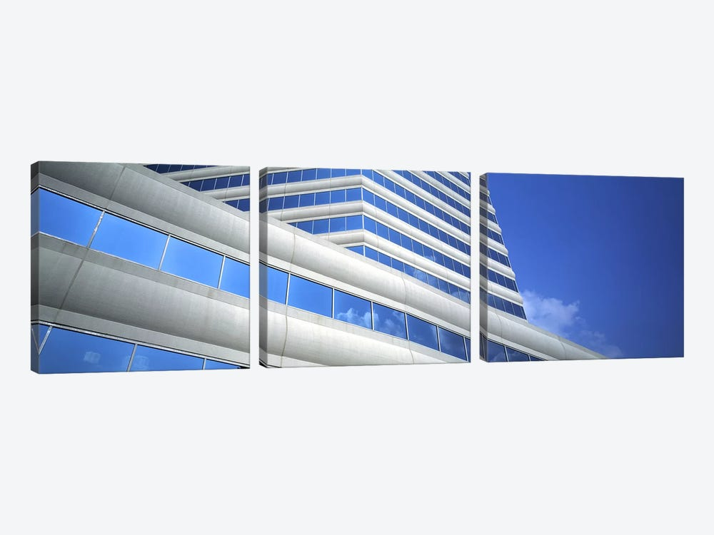 Low angle view of an office building, Dallas, Texas, USA by Panoramic Images 3-piece Canvas Art