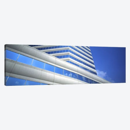 Low angle view of an office building, Dallas, Texas, USA 3-Piece Canvas #PIM3046} by Panoramic Images Canvas Art Print