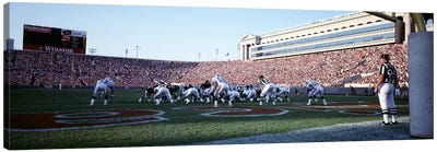 Football Game, Soldier Field, Chicago, Illinois, USA Canvas Art Print