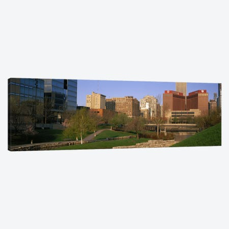 Downtown Omaha NE Canvas Print #PIM3048} by Panoramic Images Canvas Wall Art