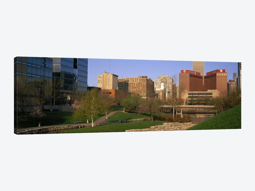 Downtown Omaha NE by Panoramic Images 1-piece Canvas Wall Art