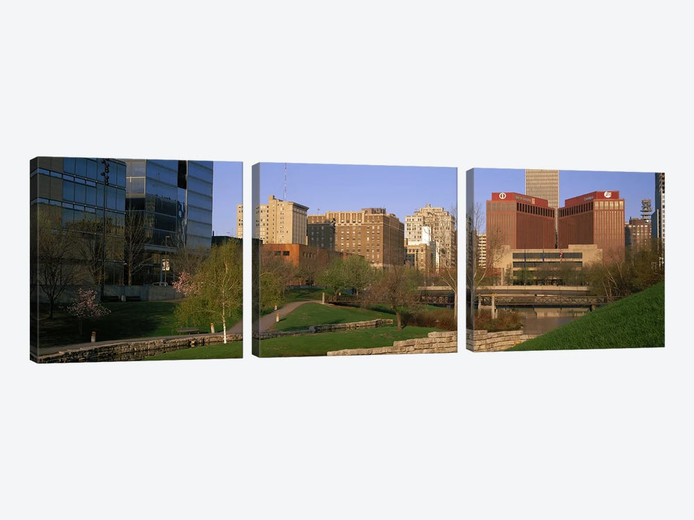 Downtown Omaha NE by Panoramic Images 3-piece Canvas Art