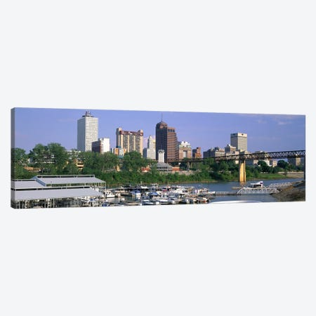 Mud Island Marina Skyline Memphis TN Canvas Print #PIM3050} by Panoramic Images Art Print