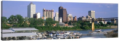 Mud Island Marina Skyline Memphis TN Canvas Art Print