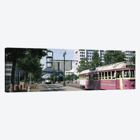 Main Street Trolley Memphis TN Canvas Print #PIM3053} by Panoramic Images Canvas Art Print
