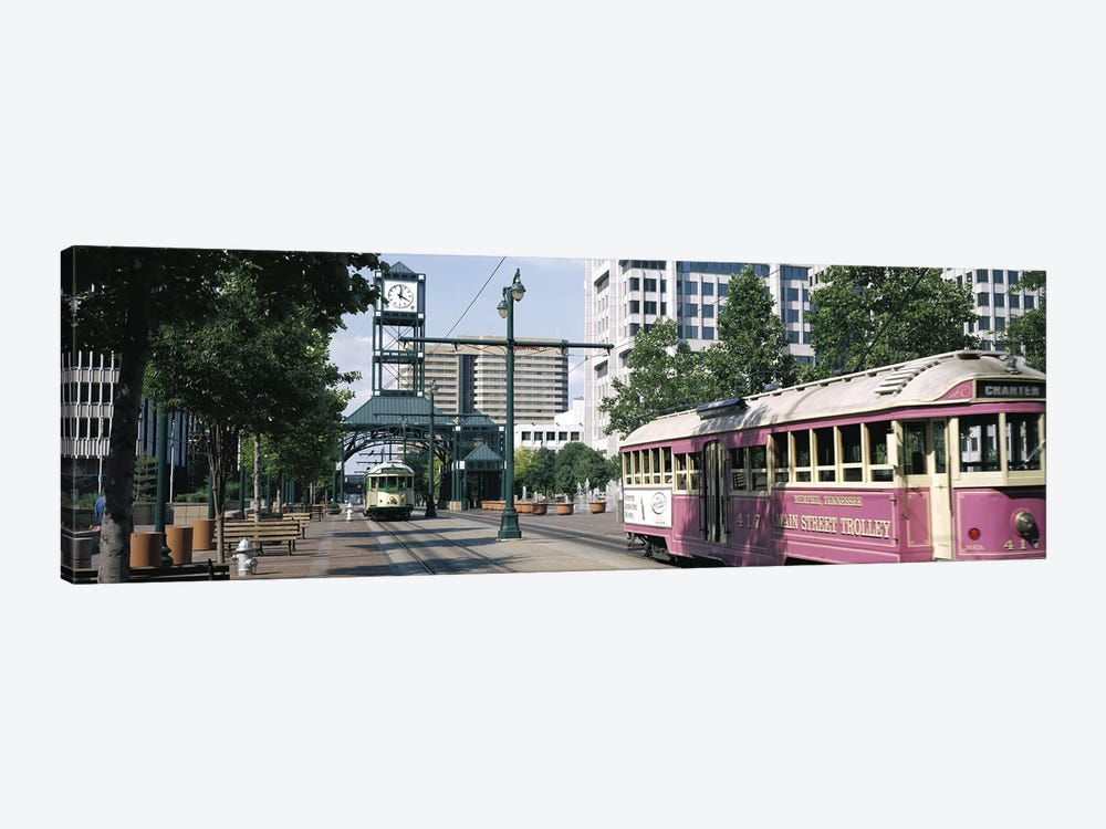 Main Street Trolley Memphis TN by Panoramic Images 1-piece Canvas Artwork