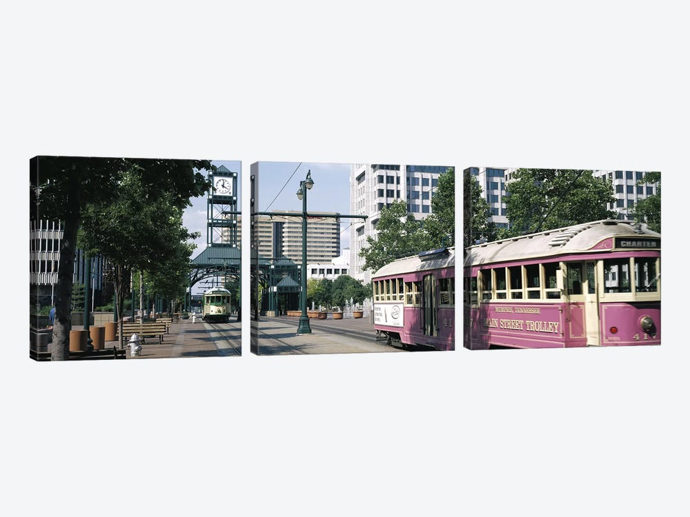 Main Street Trolley Memphis TN by Panoramic Images 3-piece Canvas Art