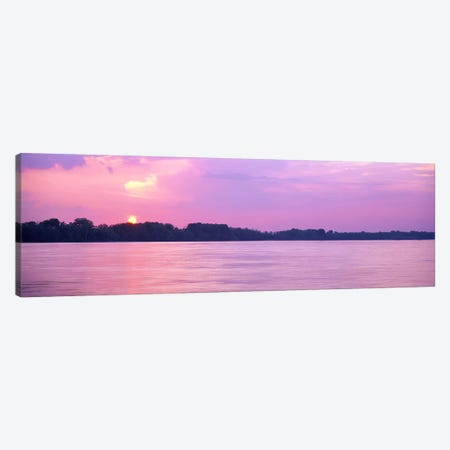 Sunset Mississippi River Memphis TN USA Canvas Print #PIM3054} by Panoramic Images Canvas Wall Art