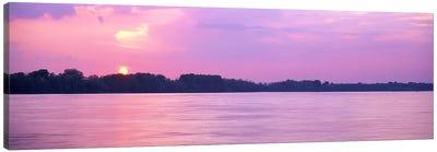 Sunset Mississippi River Memphis TN USA Canvas Print #PIM3054