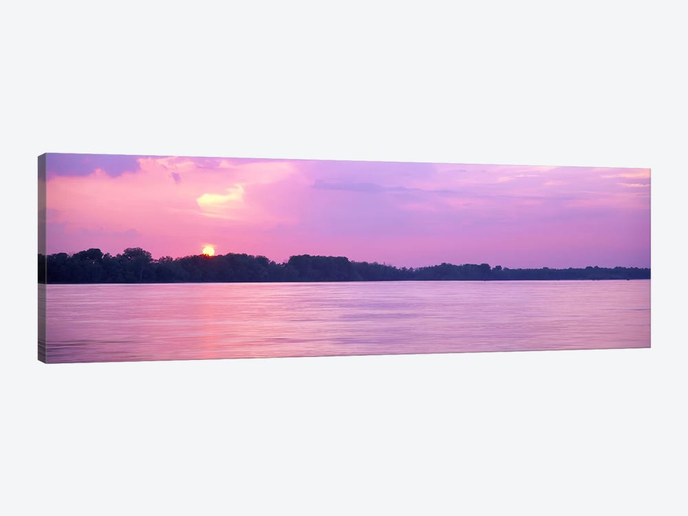 Sunset Mississippi River Memphis TN USA by Panoramic Images 1-piece Art Print